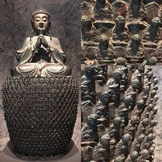 Looking for inspiration...Found at #Cantor Arts Center at #Stanford University this exquisite #bronze #sculpture: Vairocana Buddha #cantorartscenter #stanforduniversity #paloalto #california #art #travel