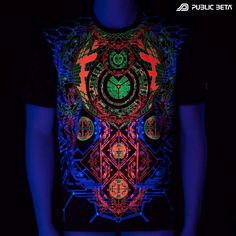 Activator UV D83 - Psychedelic T-Shirt by Public Beta Wear