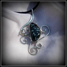 Obsidiane pendant / SOLD /