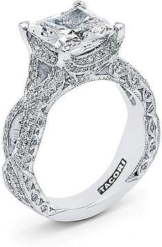 Tacori RoyalT Twist Princess Cut Diamond Engagement Ring HT2606PR
