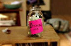inspired by new girl.. douche bag jar. haha omg this is the coolest thing.