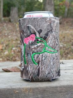 One BOWdacious duck head can koozie Duck blind by doodlegirls, $10.00