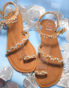 Dainty and comfortable. Any size made on order. Palm Beach Sandals, Leather Sandals, Handmade, Shoes, Templates, Hand Made, Zapatos, Shoes Outlet, Shoe