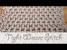 Learn how to crochet tight weave stitch baby blanket and other DIY projects and idea by following this simple, step by step tutorial for beginners.