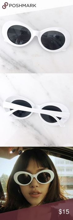 white cobain streetwear sunglasses PRICE FIRM | new without tags Urban Outfitters Accessories Glasses
