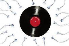 creativity, Artwork, Humor, Music, Earphones, Vinyl, White Background Wallpaper