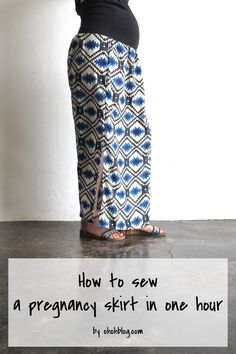 How to sew a pregnancy skirt in one hour