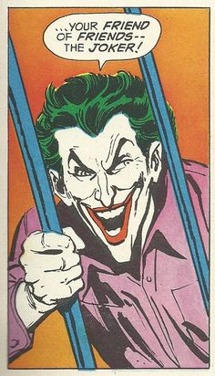 your friend of friends -- The Joker! Comic Book Characters, Comic Character, Comic Books Art, Comic Art, Book Art, Im Batman, Batman Comics, Dc Comics, Batman Universe