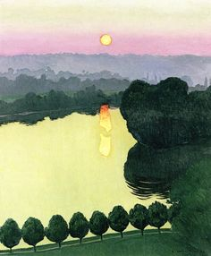 Les Andelys, Evening, 1924 / Félix Vallotton