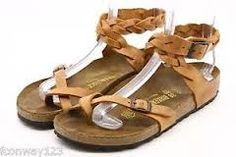 Birkenstock Yara Woven Sandals Habana Antique Brown