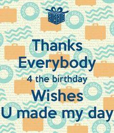 Thank You WhatsApp Status for Birthday Wishes Thank You Quotes For Birthday, Birthday Wishes Status, Thank You For Birthday Wishes, Thank You Wishes, Birthday Thanks, Friend Birthday Quotes, Happy Birthday Wishes Quotes, Happy Birthday Images, Happy Birthday Greetings