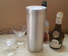 LARGE Vintage Aluminum Cocktail Shaker 48 Ounces by GladStoneatHome on Etsy