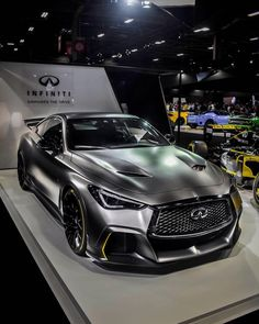 The Infiniti Black S! This new addition to the Infinity family is powered by a engine which combined with a Formula… Infiniti Q50 Sport, Nissan Infiniti, Super Cars Images, Best Car Photo, Car Wallpaper Download, Lykan Hypersport, Silver Car, Street Racing Cars, Japan Cars