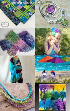 Patchwork in Purple by Sandra Hanken on Etsy--Pinned with TreasuryPin.com