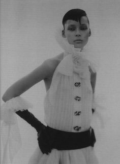 The Poetic Spirit | Vogue Italia September 2003  Tiiu Kuik by Paolo Roversi   Chanel | Fall 2003 Couture