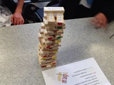 Jenga with diff ability questioning