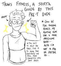 """pittssmitts: """"some people on insta said i should post my workout routine since i mentioned how im so happy with the results, so here's my little workout guide for my fellow trans folk! I focused on. Transgender Ftm, Transgender Haircuts, Ftm Haircuts, Trans Boys, Trans Art, Workout Guide, Workout Challange, Workout Routines, Workout Ideas"""