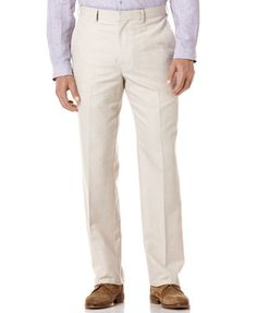 Cubavera Pants, Linen Blend Flat Front Herringbone Pant ($40 on sale at Macy's)