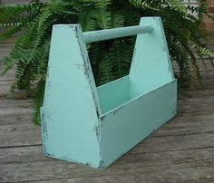 Handmade Mint Green / Sea Glass Shabby  wooden tool by messymimi