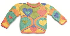 Cute interconnected hearts sweater free knitting pattern and more heart knitting patterns at http://intheloopknitting.com/valentines-day-free-knitting-patterns/