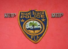 Miami Beach Police Florida Cops Vintage Patch 1950s Obsolete