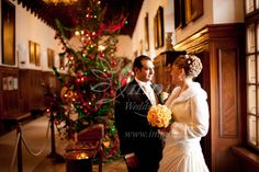Castle wedding at Christmas time - different Xmas tree in every hall, gorgeous atmosphere and calm snowing around - that´s Bojnice castle fairytale.