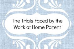 Four Problems Work at Home Parents Face http://craftulous.com/four-problems-work-home-parents-face/?utm_campaign=coschedule&utm_source=pinterest&utm_medium=Kristina%20Quinones%20(craftulous%20%7Bblog%7D)&utm_content=Four%20Problems%20Work%20at%20Home%20Parents%20Face #wahm #wah #workathome #telecommuting