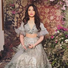 Image may contain: 1 person, standing and outdoor Desi Wedding Dresses, Party Wear Dresses, Ethnic Outfits, Indian Outfits, Pakistani Dresses, Indian Dresses, Western Style Dresses, Bridal Lehenga Collection, Sari Design