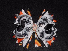 Halloween Spider with Web Center Boutique Hair Bow and headband Girls handmade #Halloween