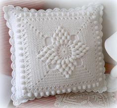 Handmade Crochet Pillow Cover /ecru cotton yarn with natural wood buttons,Christmas giftSee Free Footsteps, Charts, and Instructions. Crochet Pillow Cases, Crochet Cushion Cover, Crochet Pillow Pattern, Crochet Headband Pattern, Crochet Cushions, Crochet Motif, Diy Crochet Patterns, Crochet Flower Tutorial, Baby Knitting Patterns