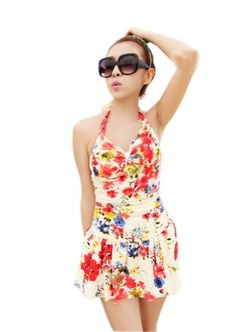 Fashion Print One Piece Swimsuit for Women Lovely Colorful Bathing Suit, Medium Panda Superstore,http://www.amazon.com/dp/B00J21JEDC/ref=cm_sw_r_pi_dp_CnFntb17G60Z7JGF