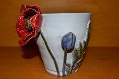 Keramik-Blumentopf aus Heidruns Händen, www.heidrun-jantos.de