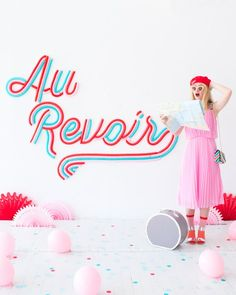 Au Revoir Balloon Backdrop | Oh Happy Day! #diy #partydecor