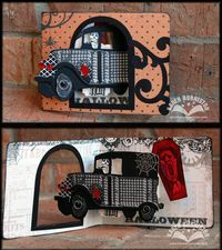 Eerie Hearse-o-ween card (from the Pop-up 2torial video)