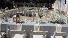 wedding set up at the alumni house by country garden caterers - Country Garden Caterers