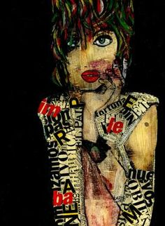 "Saatchi Art Artist CARMEN LUNA; Painting, ""33-RETRATOS Expresionistas. Monday."" #art http://www.saatchiart.com/art-collection/Painting-Assemblage-Collage/Expressionist-Portrait/71968/51263/view"