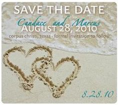 Save the Date Wedding Magnets by www.freshimpressions.us