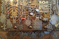 Victoria Z Rivers Jewelry+Antique Moroccan Berber Amulets+Silver+Trade Beads + Coral - Home