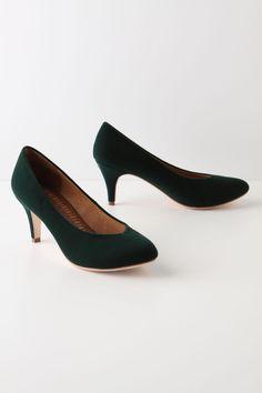 velvet kitten heels