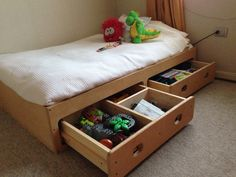 Kids bed When all you need is space for the toys