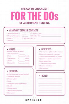 First Apartment Checklist | Apartments
