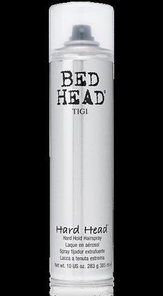Bed Head Head:  This hairspray is hurricane proof!  Protect your big hair, ladies!