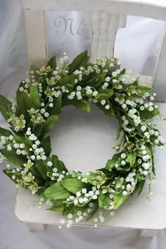 spring wreath ~ lilly of the valley