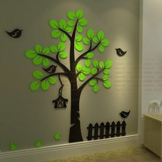 Cheap home decor, Buy Quality sticker tree directly from China wall sticker tree Suppliers: New arrival crystal acrylic three-dimensional wall stickers Tree bird wall sticker Sofa wall home decorationWallpaper Stickers, Wallpaper Stickers, Wall Stick Decoration Creche, Board Decoration, Diy Wall Art, Diy Art, Wall Art Decor, Tree Wall Art, Cheap Wall Stickers, Wall Decor Stickers, Wall Decals