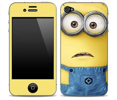 Stick some cute minion to your iPhone 4/4s/5 or Samsung Galaxy S3 with Despicable Me iPhone Skin