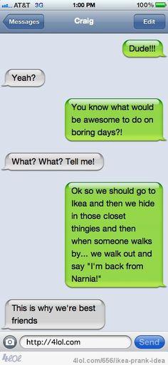 Ikea prank idea