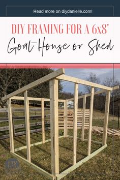 to Build a Goat House: Supplies & Framing - This shed was my first big build and it's PERFECT for our goats.How to Build a Goat House: Supplies & Framing - This shed was my first big build and it's PERFECT for our goats.