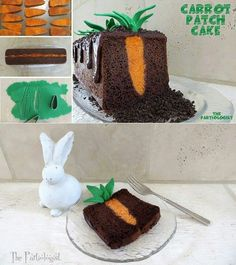 Ostern Kuchen. A carrot in the cake. A carrot cake with no actual carrot ;)