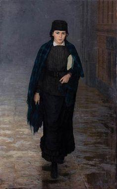 Girl student - Mykola Yaroshenko