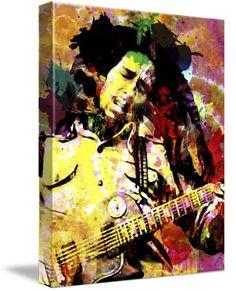 Bob Marley Art, Marley Original Painting, Canvas Art Print